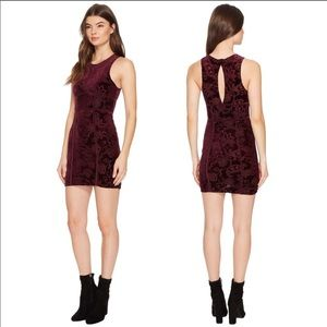 Free People Burnout Bodycon Dress Plumberry